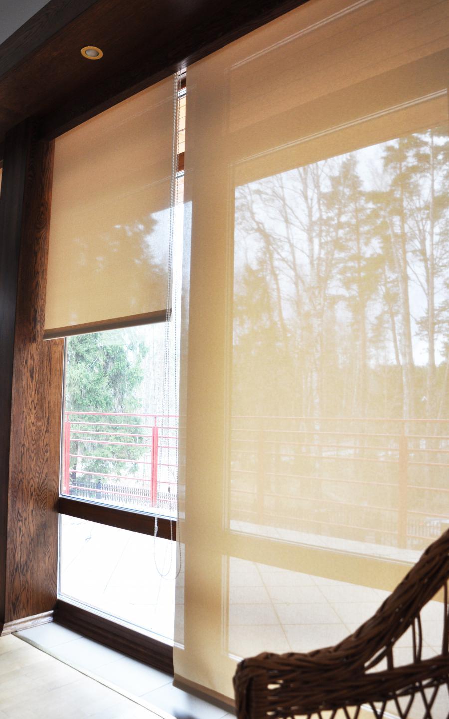 Рулонные шторы системы Lux пример 3