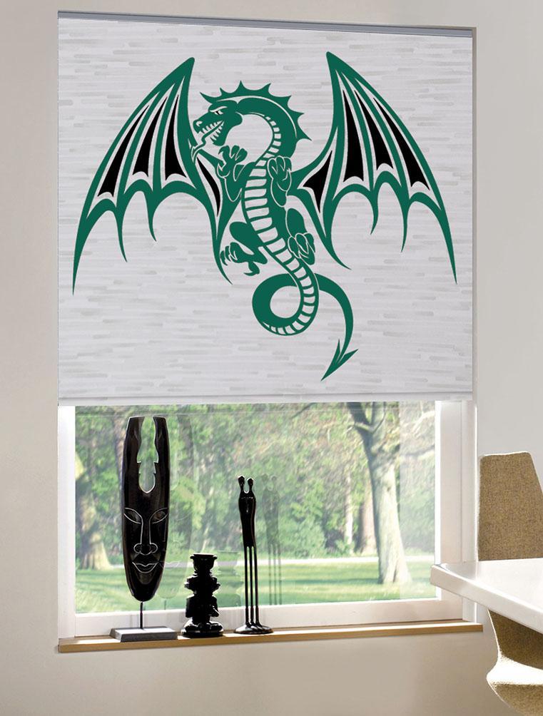 Рулонные шторы с фотопечатью дракон